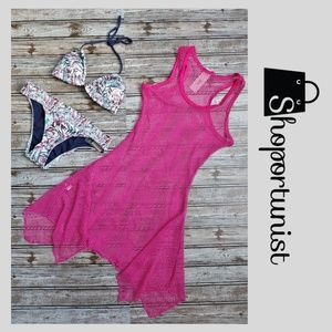 Other - Must Have Fuchsia Mesh Cover Up